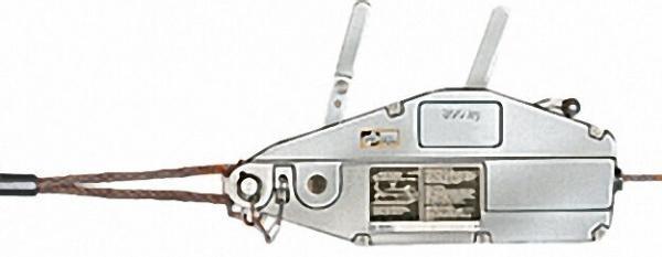 GEWA-Seilzug mit Hebelrohr, Seil und Handhaspel, Typ Y 08, Zugkrafür 800 kg, Seillänge 20 m