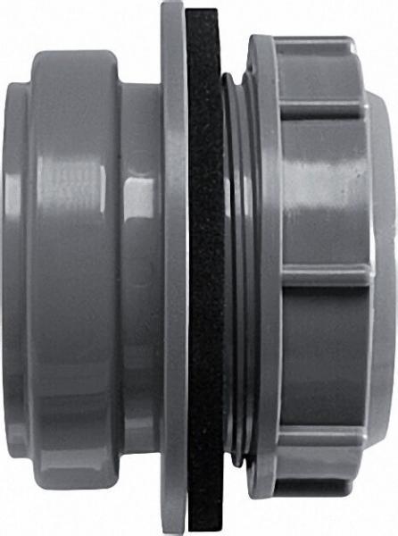 AIRFIT Anschraub-Muffe DN 50, grau, für Kunststoff-Reinigungs-Deckel
