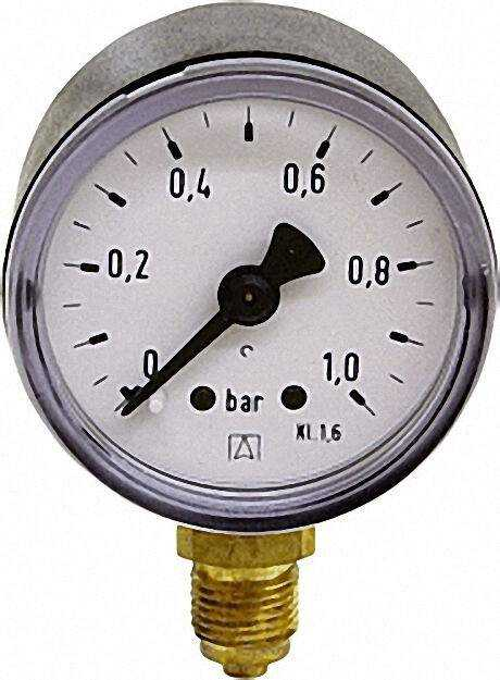 Manometer 0-10bar 40mm für G1/8