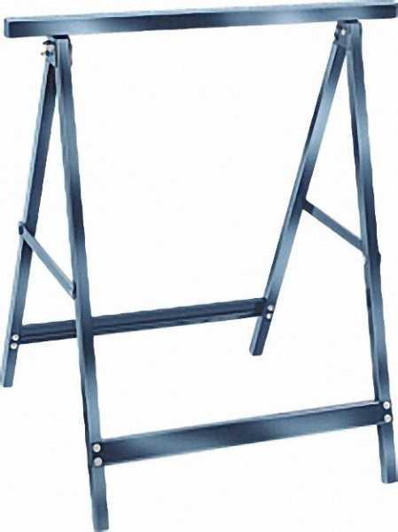 Arbeitsbock aus Stahl max. 110KG, Höhe 71cm, Auflagefläche 63cm