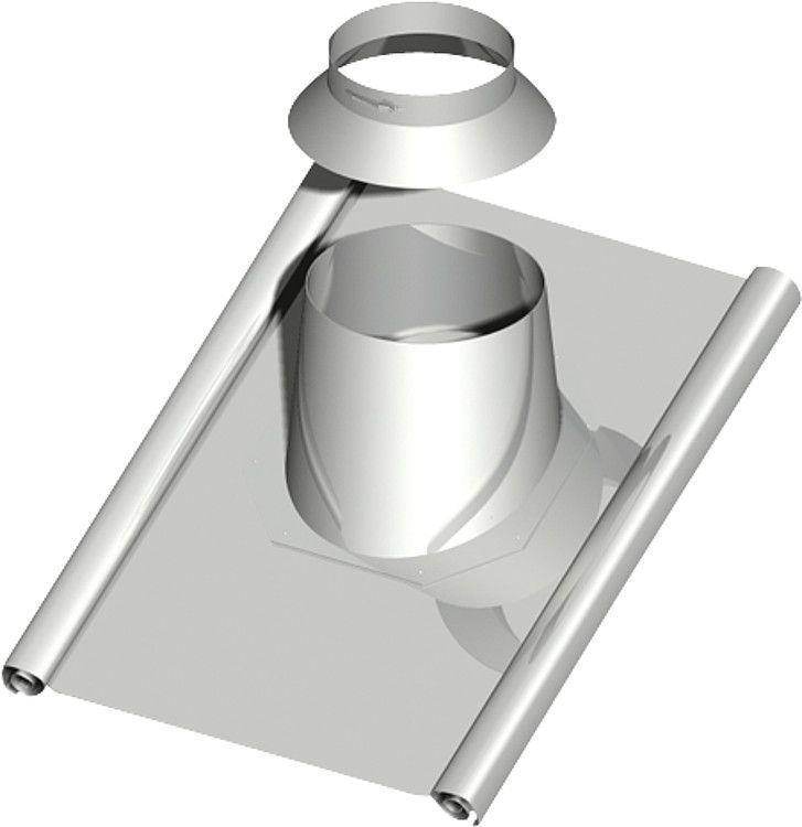 Dachdurchführung 45-55°, DN 130 mit Bleischürze ca. 1000 x 900 mm incl