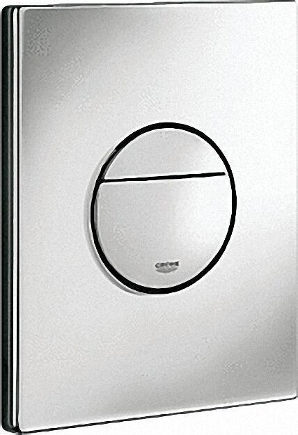Abdeckplatte Nova Cosmopolitan für WC-Spülkasten, chrom, senkrec